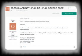 Hacker selling DDOS-Guard database, source code, pirate sites data