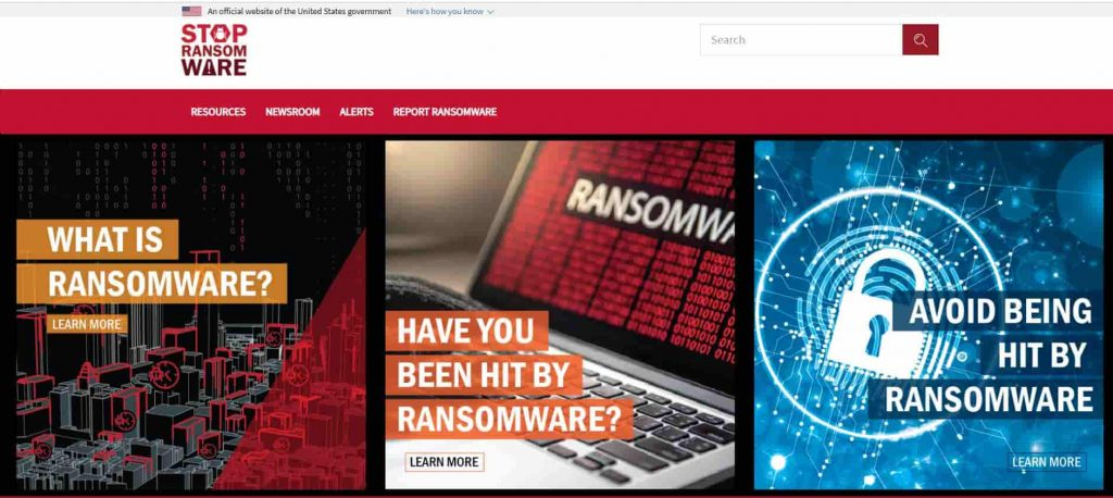 U.S Govt launches new website to fight ransomware, help victims
