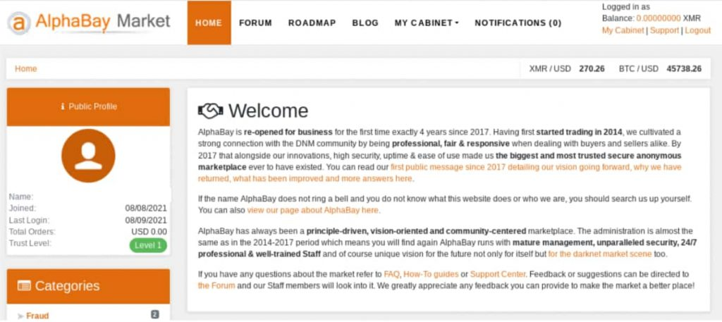 AlphaBay Dark Web Marketplaces Resurface After Four Years
