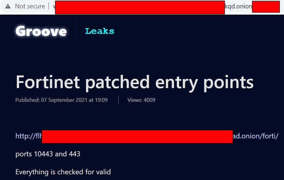 Cybercriminals Leaked Passwords of 500,000 Fortinet VPN Users