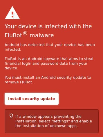 Flubot Password Stealer Trapping Android Users With Fake Security Updates