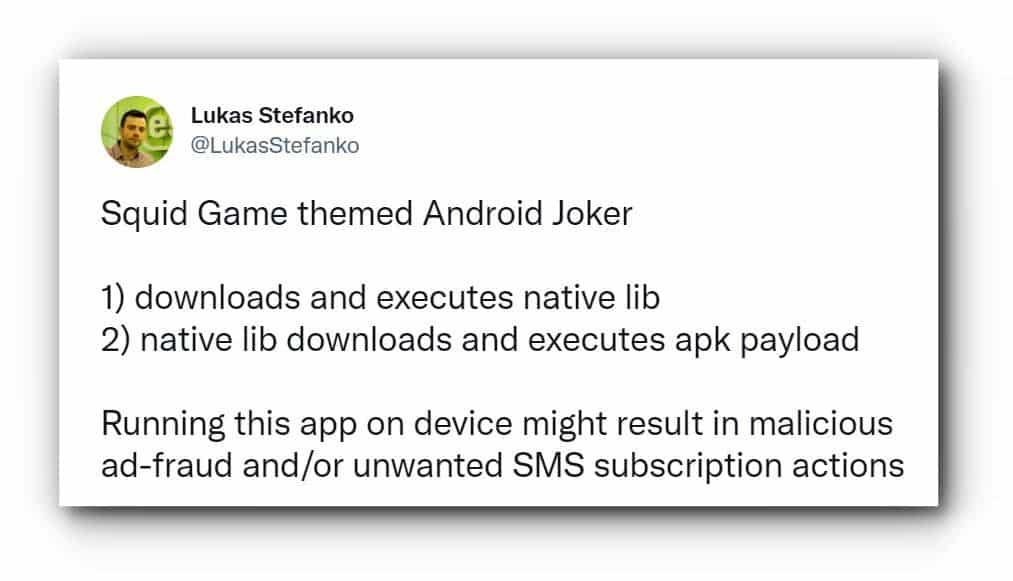 Malware infected squid game app with over 5,000 downloads found on Google Play Store